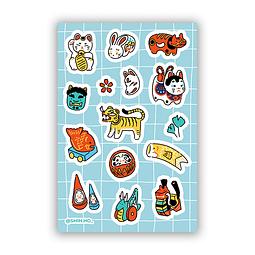 Set Stickers Japan