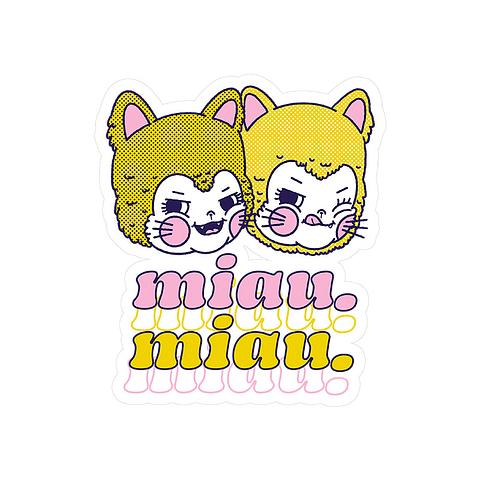 Sticker Miau miau