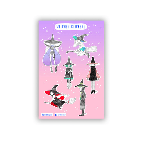 Set Stickers witches