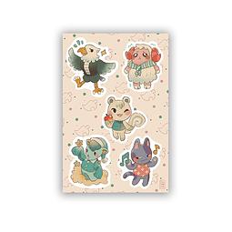 Set Stickers vecinos AC 2