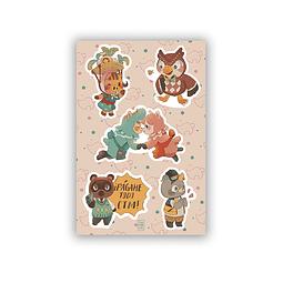 Set Stickers vecinos AC 4