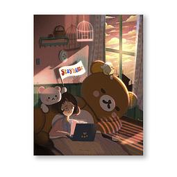 Print Rillakuma & Kaoru