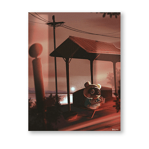 Print Tom Nook bus stop