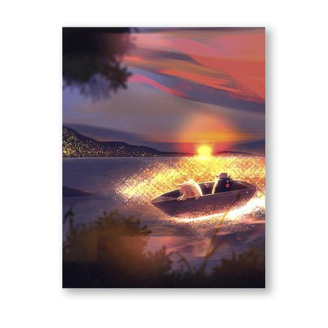 Print Perritos pescadores