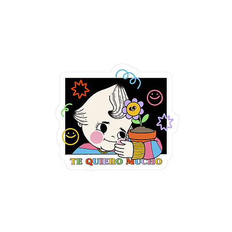 Sticker Te quiero mucho