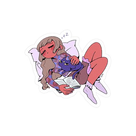 Sticker Sleeping girl