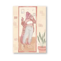Print Bubblegum Selfie