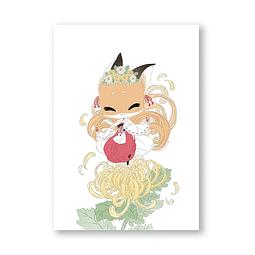 Print Minogiku chrisanthemum