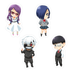 Set stickers tokyo Ghoul