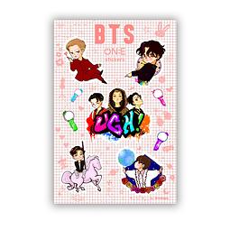 Set Stickers BTS one
