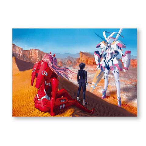 Print Zero Two en el desierto