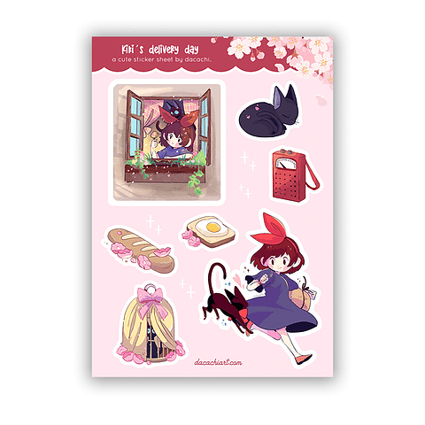 Set Stickers Kiki's delivery day
