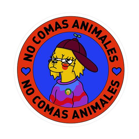 Sticker No comas animales