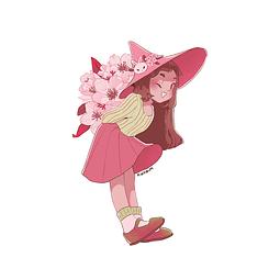 Sticker Spring witch