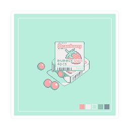 Sticker Bubblegum