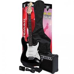 Set Guitarra Eléctrica Freeman FULL ROCK negro