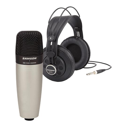 Pack Microfono Condensador y Audifonos C01/SR850