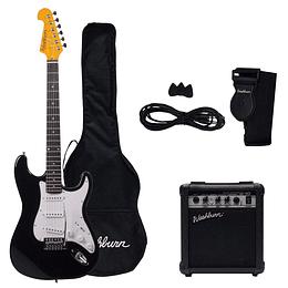 Pack de guitarra eléctrica Washburn WS300B Negro