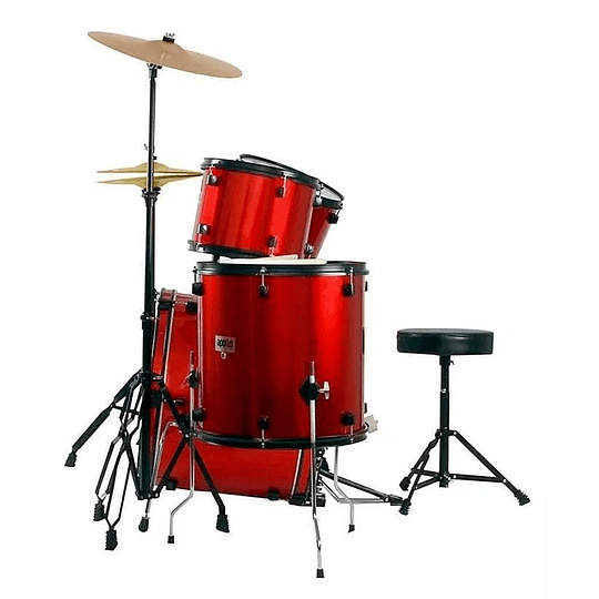 Bateria Acustica Junior Apollo EBNI5 Roja