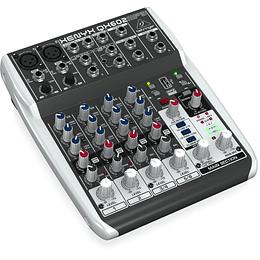 Mixer análogo 6 canales Behringer XENYX QX602MP3