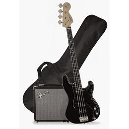 Pack Bajo Fender Squier Precision Negro