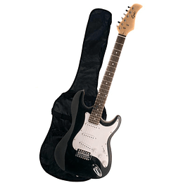 Guitarra Electrica Epic Negra con funda