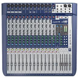 Mixer analogo 16 canales Soundcraft Signature 16