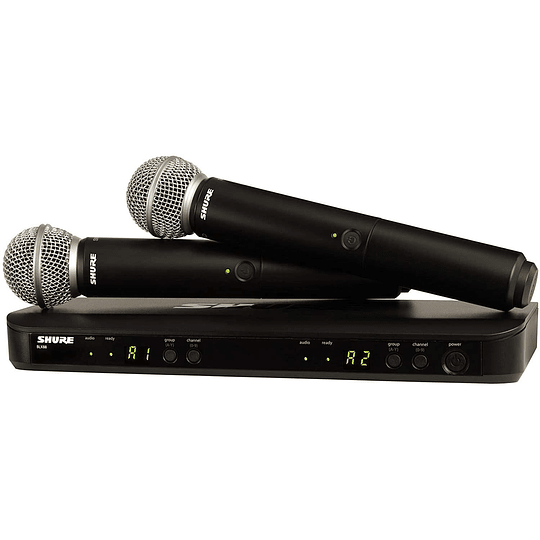 Microfono inalambrico de mano doble Shure  BLX288/SM58-J10