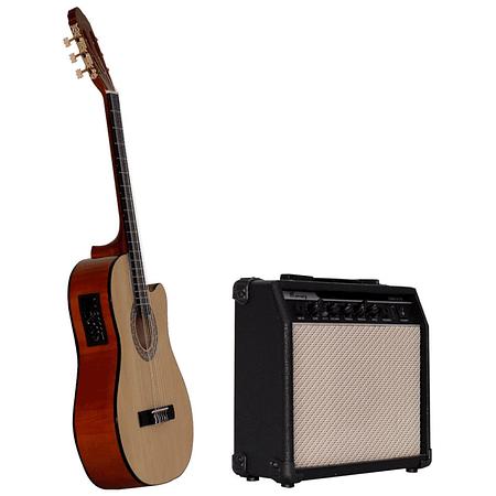 Pack Guitarra Electroacustica Mercury MAC01,  cuerdas de nylon