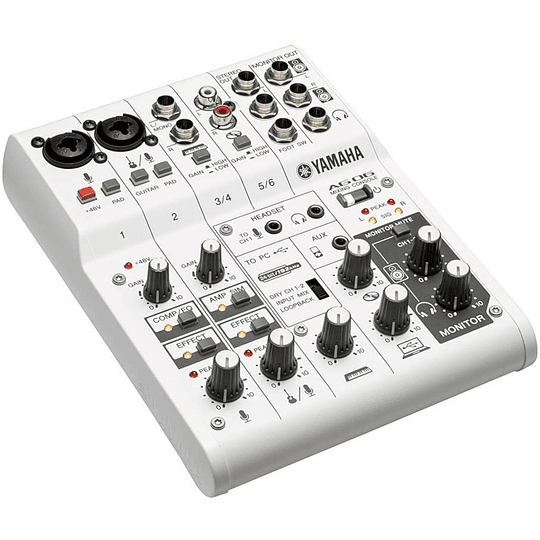 Mixer Analogo con Interfaz USB Yamaha AG06