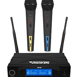 Sistema Inalambrico Doble de Mano UHF Novik UNK-600