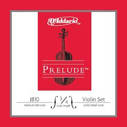 Cuerdas para Violin D'Addario J810 3/4