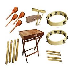 Set de instrumentos de percusión Entretemusica PLUS-12W