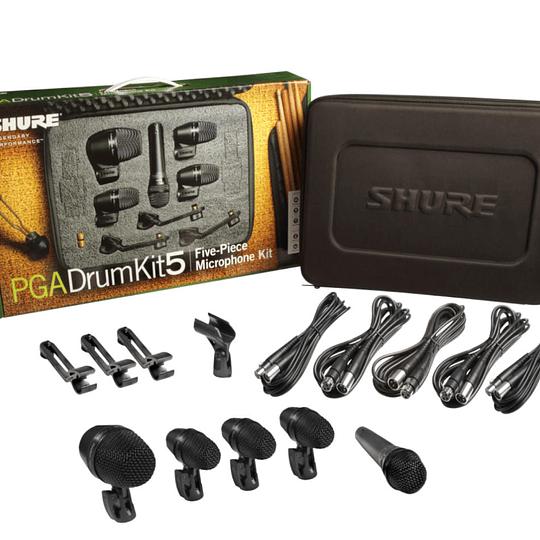 Set de micrófonos para batería Shure PGADRUMKIT5