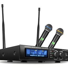 Microfono de Mano Doble Probass UF-112