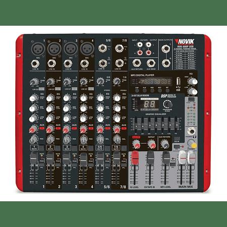 Mixer Amplificado Novik NVK-800P BT