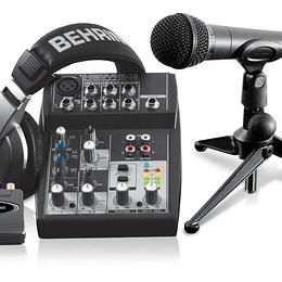 Set de grabación Behringer PODCASTUDIO