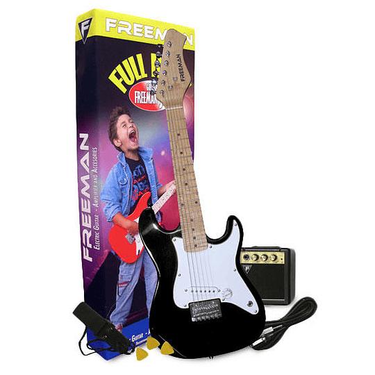 Set de Guitarra Electrica Freeman JRPKST BK