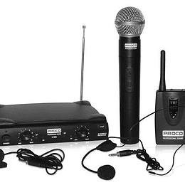 Microfono de Solapa + Cintillo + Mano Proco DV1