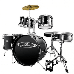 Bateria Acustica Junior Power Drums PD-03 BK