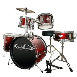 Bateria Acustica Junior Power Drums PD-03 WRD/WR
