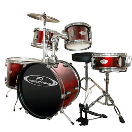 Bateria Acustica Junior Power Drums PD-03 WRD/WR