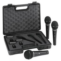 Set de 3 Microfonos Dinamicos Behringer XM1800S