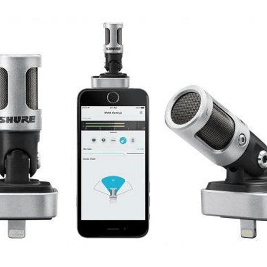 Micrófono con conector Apple Lightning Shure MOTIV MV88/A