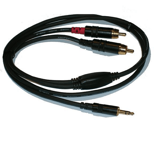 Cable 2 RCA a Plug 3.5 Neutrik NRA-0150-009