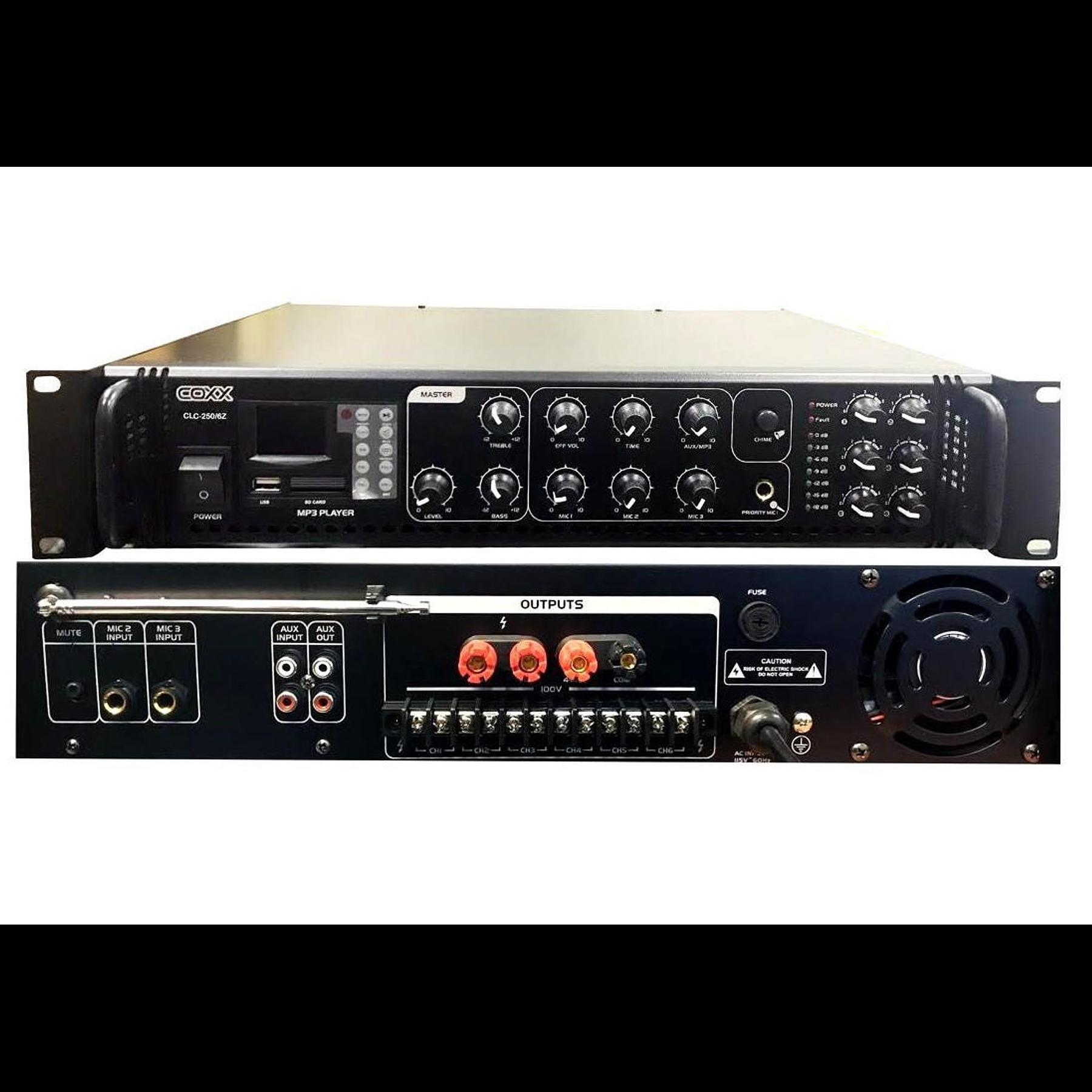 Amplificador Ambiental 250W Coxx CLC-250-6Z