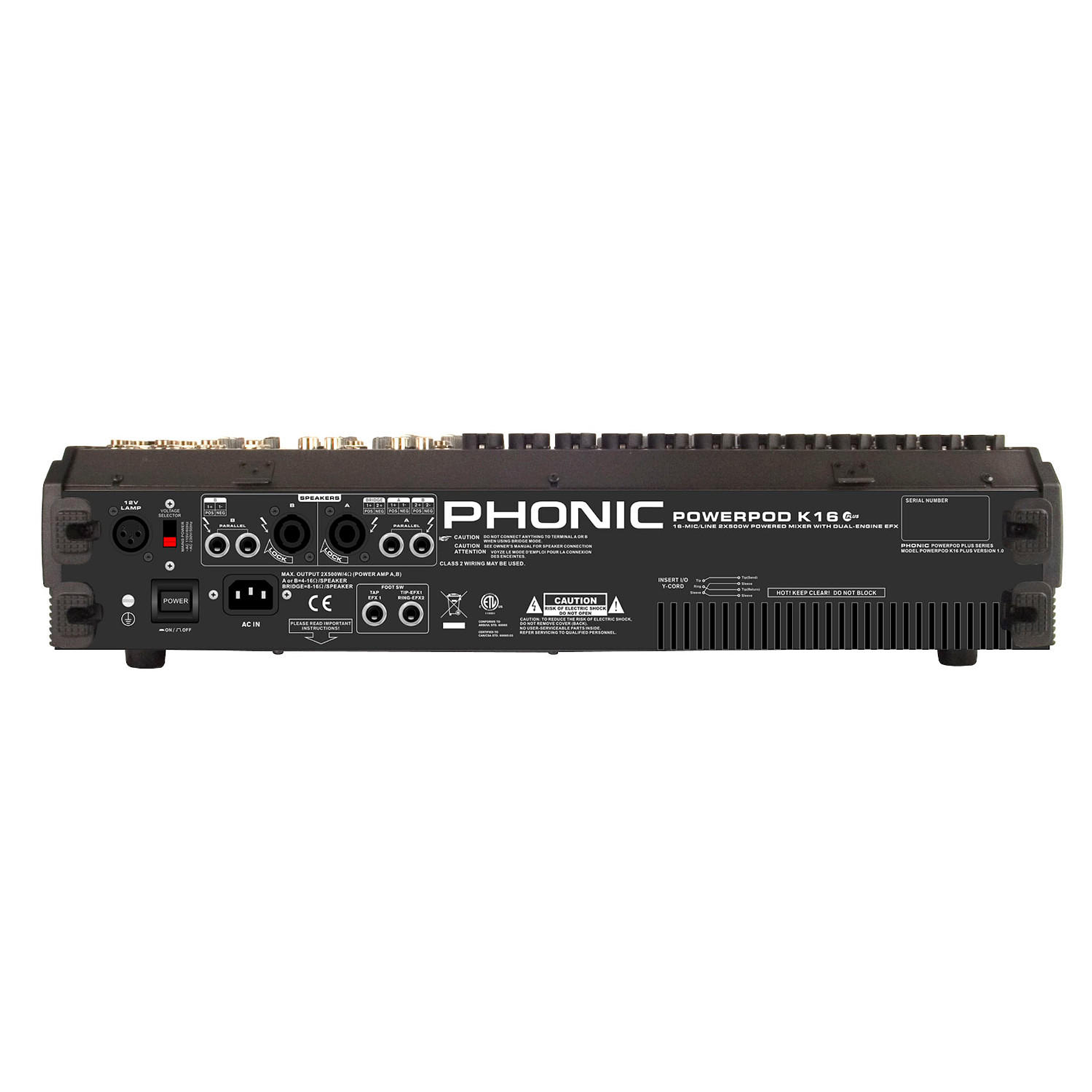 Mixer Amplificado Phonic Powerpod K-16