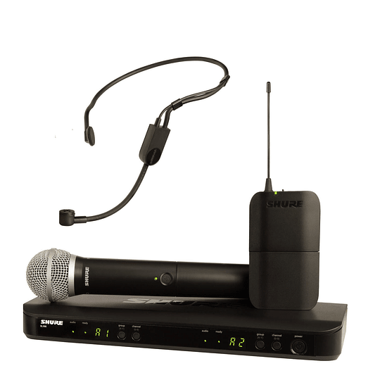 Micrófono inalámbrico mano + cintillo Shure BLX1288/P31-M15