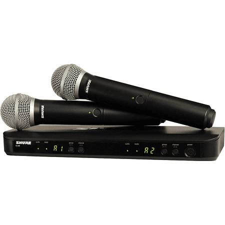Microfono inalambrico de mano doble Shure  BLX288/PG58-J10