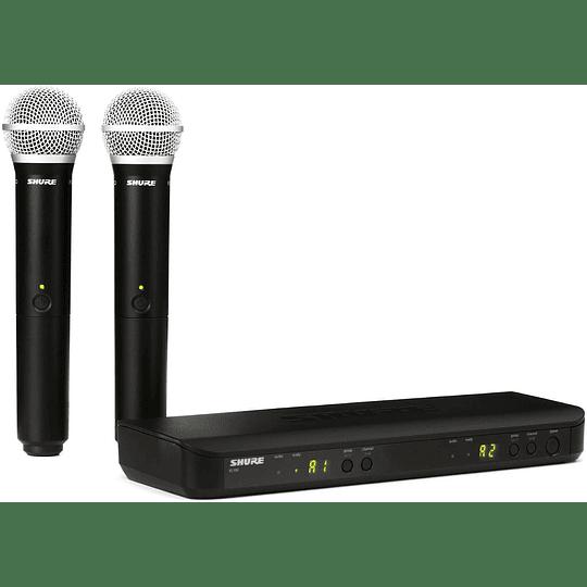 Micrófono inalámbrico de mano doble Shure  BLX288/PG58-J10